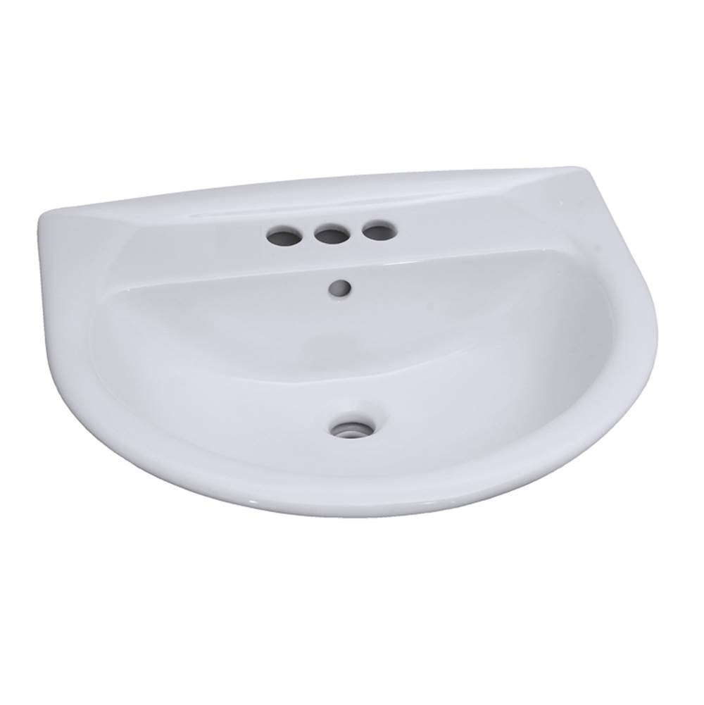 Barclay Vessel Only Pedestal Bathroom Sinks item B/3-354WH
