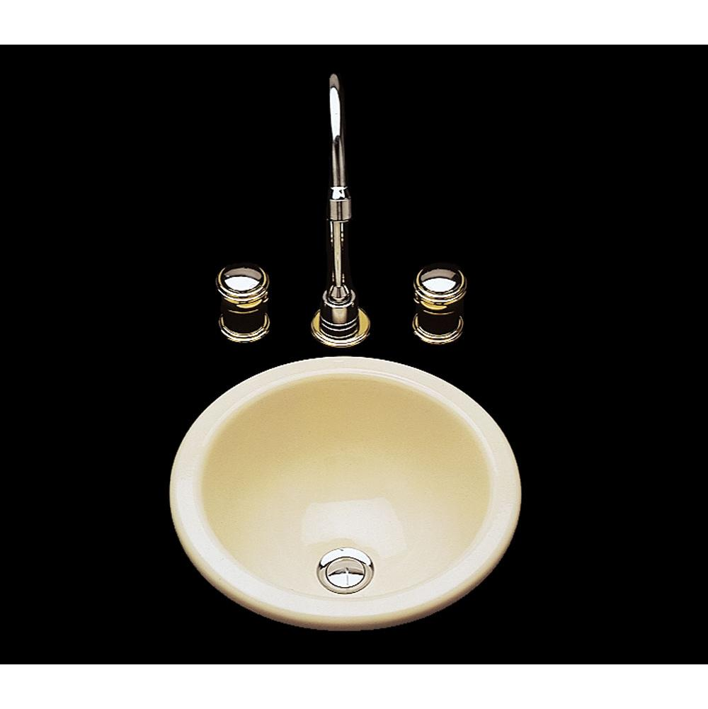 D Wh Donna Single Glazed Small Round Lavatory Plain Bowl Overflow Drop In
