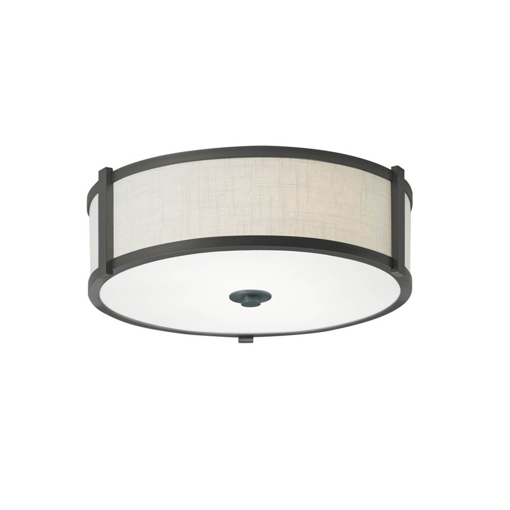 Ilex Flush Ceiling Lights item HRF16-FL-BW-PN-LED