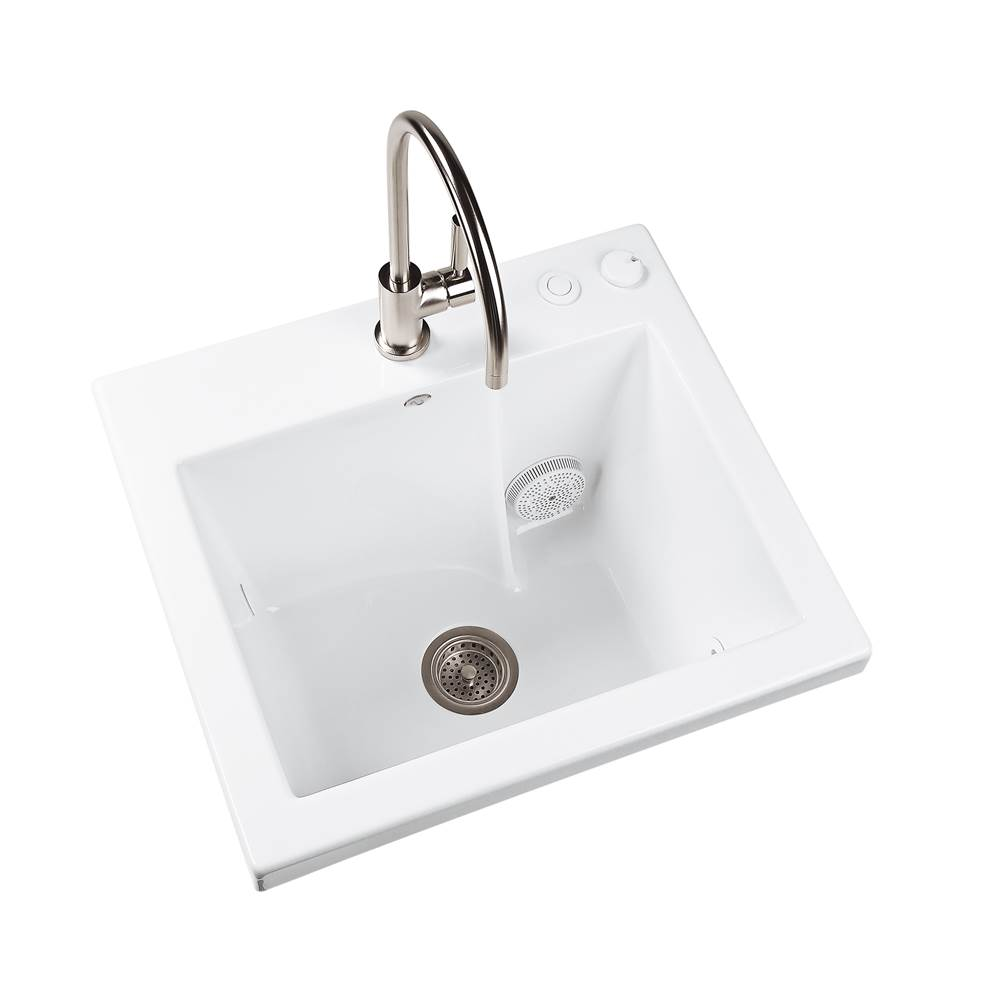 MTI Baths Drop In Laundry And Utility Sinks item MTLS120J-WH-UM