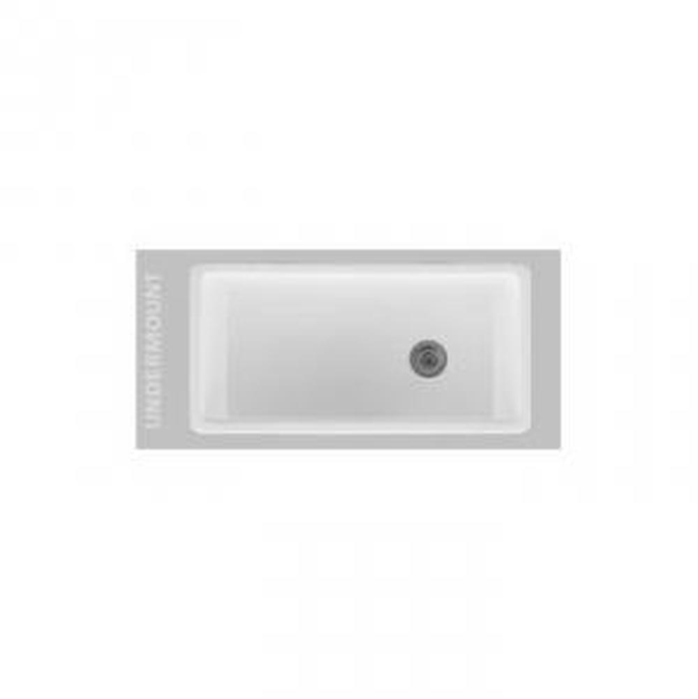 $1,570.00. 2290FC · Oliveri; 36x18 Single Bowl Fireclay Sink Drain Left Or  Right; Ceramic; Undermount Kitchen Sinks