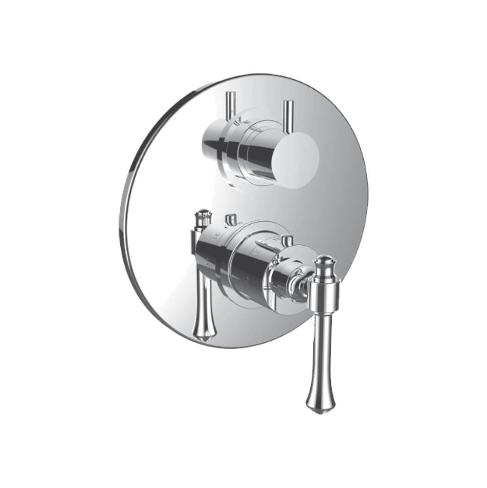 Santec Thermostatic Valve Trims With Integrated Diverter Shower Faucet Trims item 7098AT47-TM