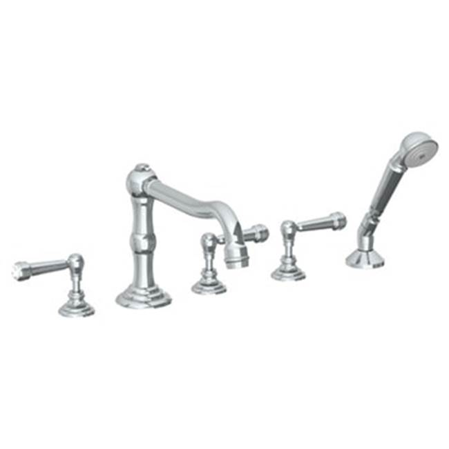 Watermark Deck Mount Roman Tub Faucets With Hand Showers item 206-8.1-S2-UPB