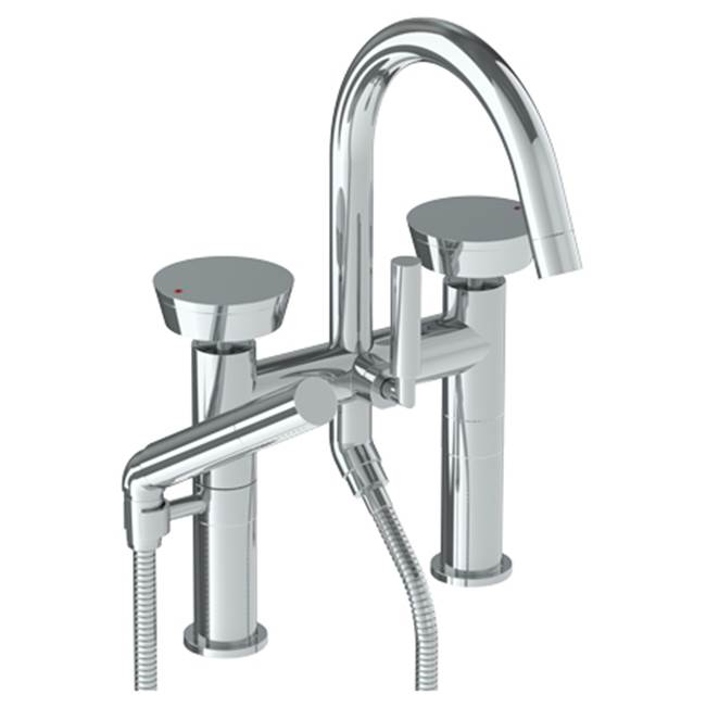 Watermark Deck Mount Roman Tub Faucets With Hand Showers item 36-8.2-BL1-SPVD