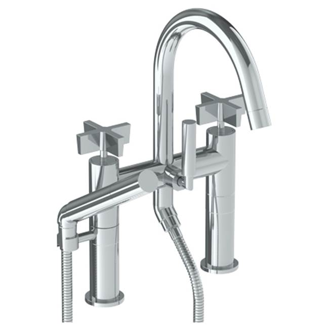 Watermark Deck Mount Roman Tub Faucets With Hand Showers item 37-8.2-BL3-GP