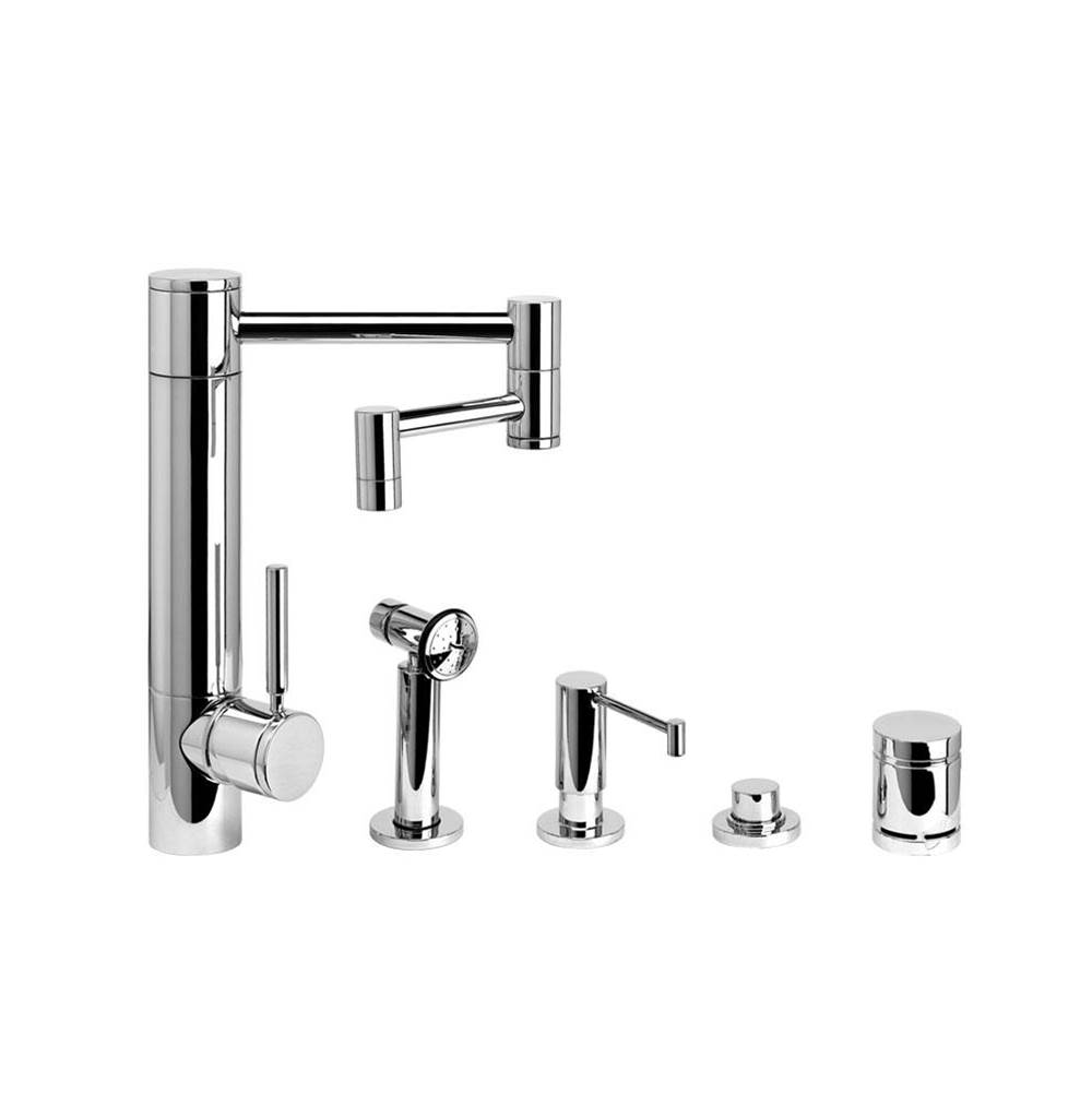 Waterstone Single Hole Kitchen Faucets item 3600-12-4-CHB