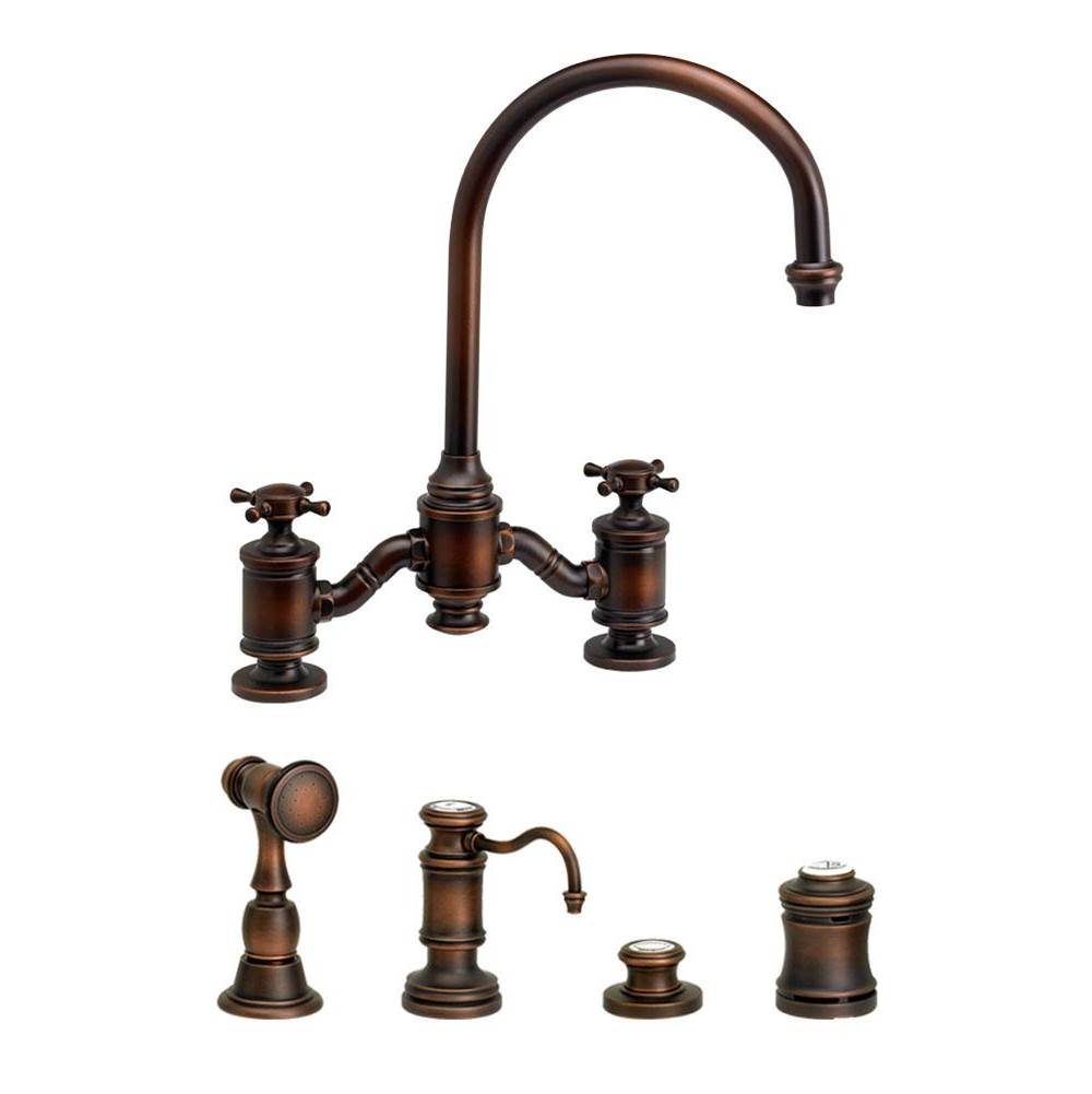 Waterstone Bridge Kitchen Faucets item 6350-4-ORB